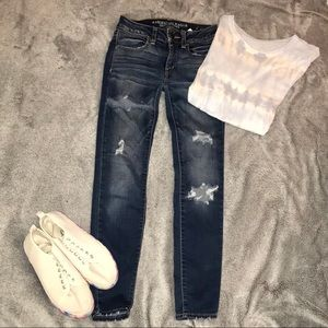 American Eagle Ankle Jean Legging 00 Short